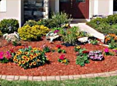 Basket weave concrete border for garden