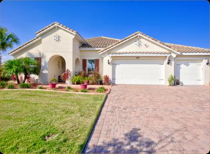 Home in Orlando FL with Concrete borders