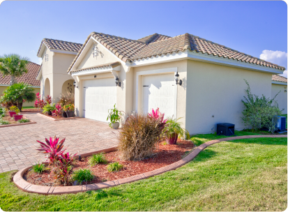 single family home in Osceola Fl with custom concrete borders