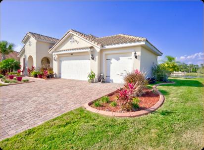 Garden borders in Central Florida home